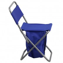 Flash Furniture TY1262-BL-GG Blue Folding Camping Chair with Insulated Storage addl-1