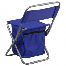 Flash Furniture TY1262-BL-GG Blue Folding Camping Chair with Insulated Storage addl-2