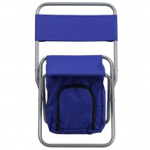 Flash Furniture TY1262-BL-GG Blue Folding Camping Chair with Insulated Storage addl-3