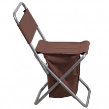 Flash Furniture TY1262-BN-GG Brown Folding Camping Chair with Insulated Storage addl-1