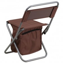 Flash Furniture TY1262-BN-GG Brown Folding Camping Chair with Insulated Storage addl-2