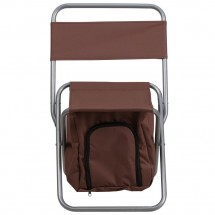 Flash Furniture TY1262-BN-GG Brown Folding Camping Chair with Insulated Storage addl-3