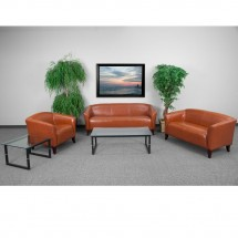 Flash Furniture 111-SET-CG-GG HERCULES Imperial Series Cognac Reception Set addl-1