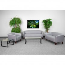 Flash Furniture 111-SET-GY-GG HERCULES Imperial Series Gray Reception Set addl-1