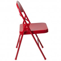 Flash Furniture BD-F002-RED-GG HERCULES Double Braced Red Metal Folding Chair addl-1