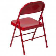 Flash Furniture BD-F002-RED-GG HERCULES Double Braced Red Metal Folding Chair addl-2