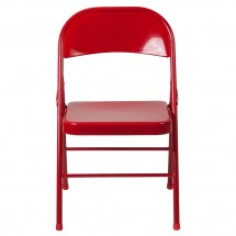 Flash Furniture BD-F002-RED-GG HERCULES Double Braced Red Metal Folding Chair addl-3