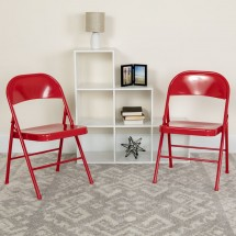 Flash Furniture BD-F002-RED-GG HERCULES Double Braced Red Metal Folding Chair addl-4