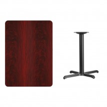 Flash Furniture XU-MAHTB-3042-T2230-GG 30 x 42 Rectangular Mahogany Laminate Table Top with 22 x 30 Table Height Base addl-1