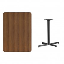 Flash Furniture XU-WALTB-3042-T2230-GG 30 x 42 Rectangular Walnut Laminate Table Top with 22 x 30 Table Height Base addl-1