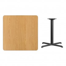 Flash Furniture XU-NATTB-3636-T3030-GG 36 Square Natural Laminate Table Top with 30 x 30 Table Height Base addl-1