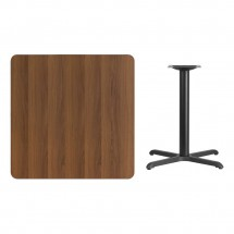 Flash Furniture XU-WALTB-3636-T3030-GG 36 Square Walnut Laminate Table Top with 30 x 30 Table Height Base addl-1