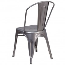 Flash Furniture XU-DG-TP001-GG Metal Indoor Clear Coated Stackable Chair addl-2