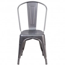 Flash Furniture XU-DG-TP001-GG Metal Indoor Clear Coated Stackable Chair addl-3
