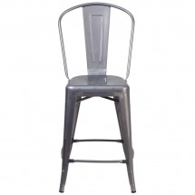 Flash Furniture XU-DG-TP001B-24-GG 24 High Indoor Counter Height Clear Coated Stool with Back addl-3