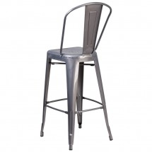 Flash Furniture XU-DG-TP001B-30-GG 30 High Indoor Counter Height Clear Coated Stool with Back addl-2