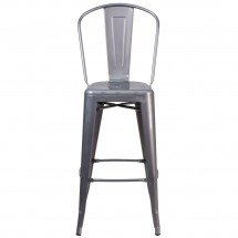 Flash Furniture XU-DG-TP001B-30-GG 30 High Indoor Counter Height Clear Coated Stool with Back addl-3
