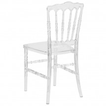 Flash Furniture BH-H002-CRYSTAL-GG Elegance Crystal Ice Napoleon Stacking Chair addl-2
