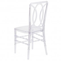 Flash Furniture BH-H007-CRYSTAL-GG Elegance Crystal Ice Stacking Chair with Circle Design addl-2