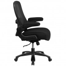 Flash Furniture BL-ZP-8805-BK-GG Mid-Back Black Mesh Swivel Task Chair with Gray Frame and Flip-Up Arms addl-1