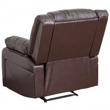 Flash Furniture BT-70597-1-BN-GG Harmony Series Brown Leather Recliner addl-1