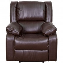 Flash Furniture BT-70597-1-BN-GG Harmony Series Brown Leather Recliner addl-2