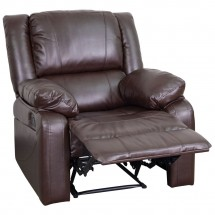 Flash Furniture BT-70597-1-BN-GG Harmony Series Brown Leather Recliner addl-3