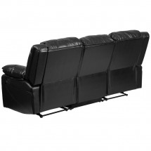 Flash Furniture BT-70597-SOF-GG Harmony Series Black Leather Sofa with Two Built-In Recliners addl-2
