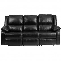 Flash Furniture BT-70597-SOF-GG Harmony Series Black Leather Sofa with Two Built-In Recliners addl-3