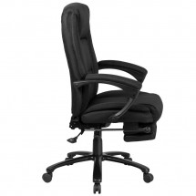 Flash Furniture BT-90288H-BK-GG High Back Black Fabric Executive Reclining Swivel Office Chair with Comfort Coil Seat Springs and Arms addl-1