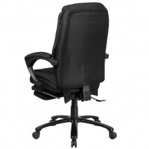 Flash Furniture BT-90288H-BK-GG High Back Black Fabric Executive Reclining Swivel Office Chair with Comfort Coil Seat Springs and Arms addl-2