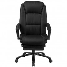 Flash Furniture BT-90288H-BK-GG High Back Black Fabric Executive Reclining Swivel Office Chair with Comfort Coil Seat Springs and Arms addl-3