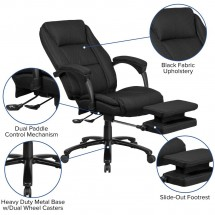Flash Furniture BT-90288H-BK-GG High Back Black Fabric Executive Reclining Swivel Office Chair with Comfort Coil Seat Springs and Arms addl-5