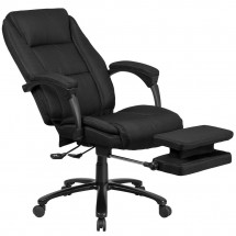Flash Furniture BT-90288H-BK-GG High Back Black Fabric Executive Reclining Swivel Office Chair with Comfort Coil Seat Springs and Arms addl-6