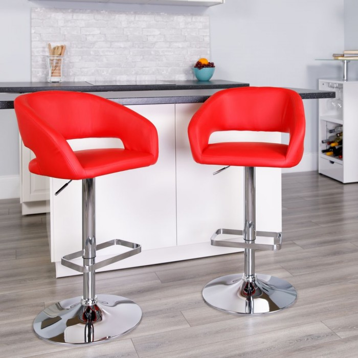 Fabulous Flash Furniture Ch 122070 Red Gg Contemporary Red Vinyl Gmtry Best Dining Table And Chair Ideas Images Gmtryco