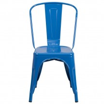 Flash Furniture CH-31230-BL-GG Blue Metal Indoor-Outdoor Stackable Chair addl-3