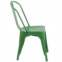 Flash Furniture CH-31230-GN-GG Green Metal Indoor-Outdoor Stackable Chair addl-1