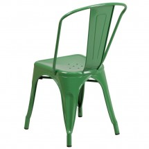 Flash Furniture CH-31230-GN-GG Green Metal Indoor-Outdoor Stackable Chair addl-2