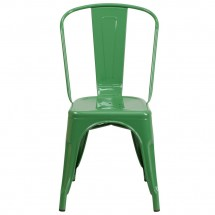 Flash Furniture CH-31230-GN-GG Green Metal Indoor-Outdoor Stackable Chair addl-3