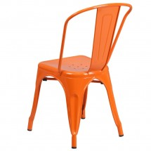 Flash Furniture CH-31230-OR-GG Orange Metal Indoor-Outdoor Stackable Chair addl-2