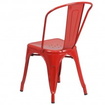 Flash Furniture CH-31230-RED-GG Red Metal Indoor-Outdoor Stackable Chair addl-2