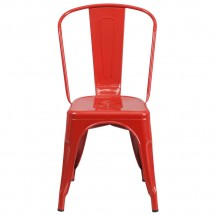 Flash Furniture CH-31230-RED-GG Red Metal Indoor-Outdoor Stackable Chair addl-3