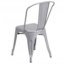 Flash Furniture CH-31230-SIL-GG Silver Metal Indoor-Outdoor Stackable Chair addl-2
