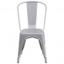 Flash Furniture CH-31230-SIL-GG Silver Metal Indoor-Outdoor Stackable Chair addl-3