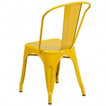 Flash Furniture CH-31230-YL-GG Yellow Metal Indoor-Outdoor Stackable Chair addl-2