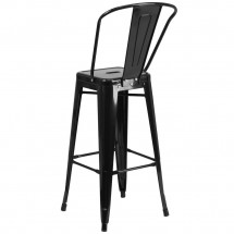 Flash Furniture CH-31320-30GB-BK-GG Black Metal Indoor-Outdoor Counter Height Stool with Square Seat and Back 30 addl-2