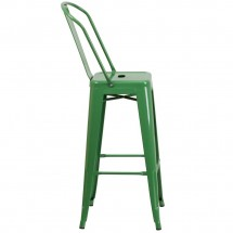 Flash Furniture CH-31320-30GB-GN-GG Green Metal Indoor-Outdoor Counter Height Stool with Square Seat and Back 30 addl-1