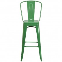 Flash Furniture CH-31320-30GB-GN-GG Green Metal Indoor-Outdoor Counter Height Stool with Square Seat and Back 30 addl-3