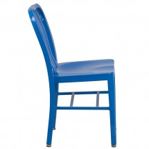 Flash Furniture CH-61200-18-BL-GG Blue Metal Indoor-Outdoor Chair addl-1