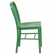Flash Furniture CH-61200-18-GN-GG Green Metal Indoor-Outdoor Chair addl-1